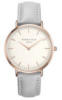 Rosefield The Bowery Kollektion Uhr Lederarmband Weiß - Grau - Rosègold