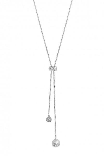 Xenox Halskette mit Kugelanhänger Silber