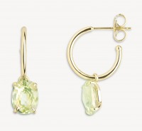 Xenox Fine Collection - Earring - 375 Yellow Gold - green amethyst