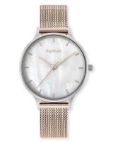 Engelsrufer Uhr Pearl - Edelstahl Rosé Perlmutt - Mesharmband