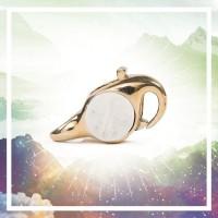 Redbalifrog Moon Face Lock Brass