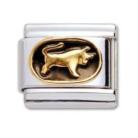 Original Firenze Gold Emaille Stier