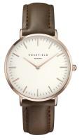 Rosefield The Bowery Kollektion Uhr Lederarmband Weiß - Braun - Rosègold