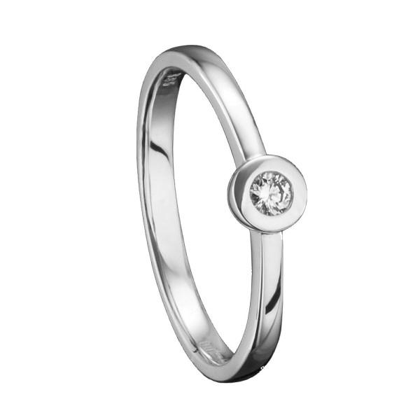 Ring Brilliant Zargenfassung 0,07 ct 585 Karat