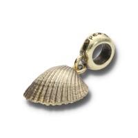 Spiritbeads Muschel Vergoldet mit Perle