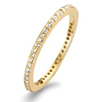 Spirit Icons - Chic Ring - Yellow Gold - Zirconia