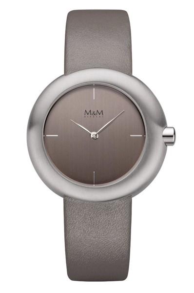 M&M Damen-Armbanduhr Big Crown graphit Analog Quarz