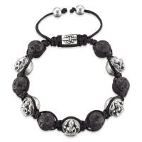 Gervida Bracelet lava stone 5 Buddha