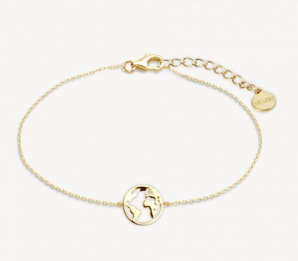 Xenox Silber Wanderlust - Armband, Gold, Weltkugel