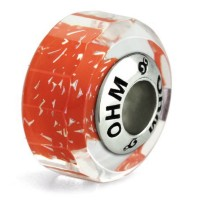 Ohm Beads Glasbead Healing Orange