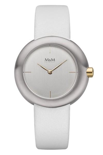 M&M Damen-Armbanduhr Big Crown bicolor silber Analog Quarz