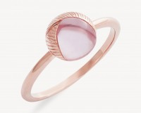Xenox Fine Fashion Collection - Ring - Rosegold rose quartz