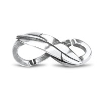 X Jewellery Freed Feather, Double Silver Link