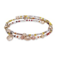 Platadepalo Summertime'19 elastic bracelet - Bronze and Yellow Crystal