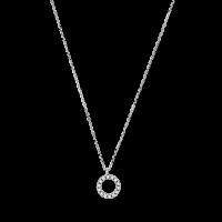 Xenox Fine Fashion Halskette Circle Weißgold mit Diamanten