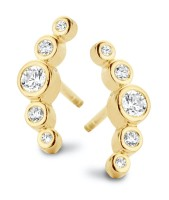 Spirit Icons - Temptation Studs - Yellow Gold - Zirconia