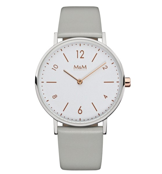 M&M Damen-Armbanduhr Basic 36 Analog Quarz