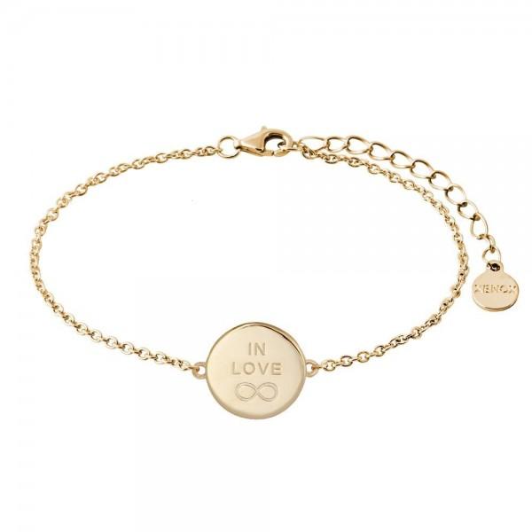Xenox Armband Rundes Medallion Vergoldet In Love