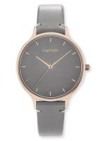 Engelsrufer Uhr Colour - Edelstahl Rosé - Lederarmband Grau