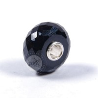 Trollbeads Snowflake Obsidian facetted