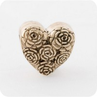 Redbalifrog Herz aus Rosen Messing - Valentinstag