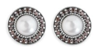 Platadepalo WOMAN Earrings - Silver, Zircon and Pearls