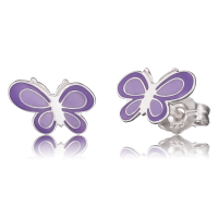 Herzengel Ohrstecker mit Schmetterling
