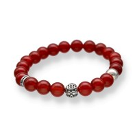 Spiritbeads Beadsarmband Karneol Lotus