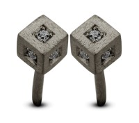 Spirit Icons - Block Studs - Rhodanized - Black Zirconia