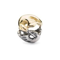 Trollbeads Dancing Dragons Bead, Silver and Gold