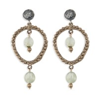 Platadepalo Summertime'19 Earrings - Silver, Bronze and Crystal