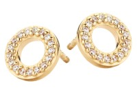 Spirit Icons - Trend Studs - Yellow Gold - Zirconia