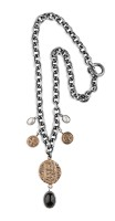 Platadepalo Necklace - Silver, Bronze and Pearls