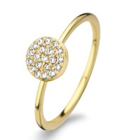 Spirit Icons - Mini Ring - Yellow Gold - Zirconia