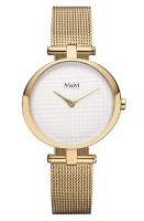 M&M Damen-Armbanduhr Ring O gold Analog Quarz