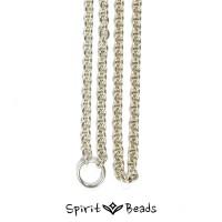 Spiritbeads Silberhalskette für Beads und Anhänger glänzend