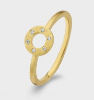 Spirit Icons - Wheel Ring - Yellow Gold - Zirconia