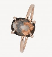 Xenox Fine Collection - Ring - 375 Rosegold - cairngorm