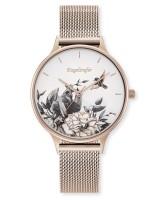 Engelsrufer Uhr Blume - Edelstahl Rosé - Mesh Armband Rosé
