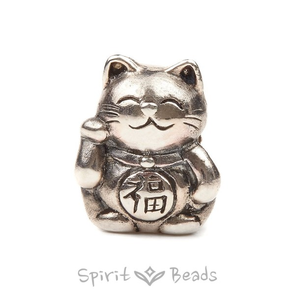 Spiritbeads Silberbead Maneki-Neko