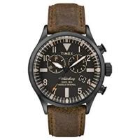 Timex Herren-Armbanduhr Chronograph Quarz Leder