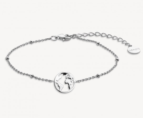 Xenox Silber Wanderlust - Armband, Silber, Weltkugel