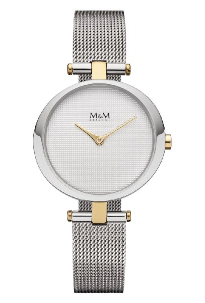 M&M Damen-Armbanduhr Ring O bicolor Analog Quarz