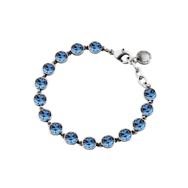 Miglio Armband mit blauen Kristallen