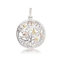 Engelsrufer Kette Lebensbaum Silber rhodiniert, Gold Rosè