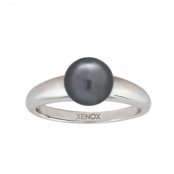 Xenox Ring mit schwarzer Perle
