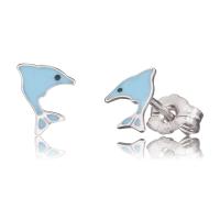 Herzengel Ohrstecker mit Delfin