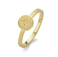 Spirit Icons - North Star - Ring - Yellow Gold - Diamond 0,01ct