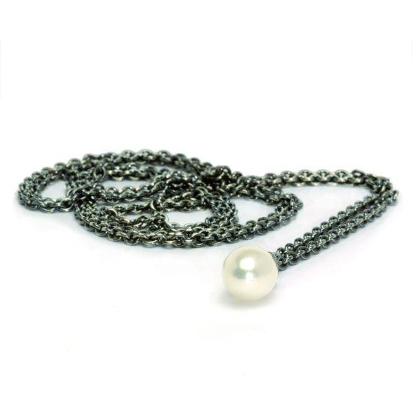 Trollbeads Fantasy Halskette mit weisser Perle