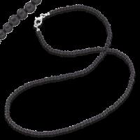 Gervida Kette Onyxperlen - 4,5 mm breit